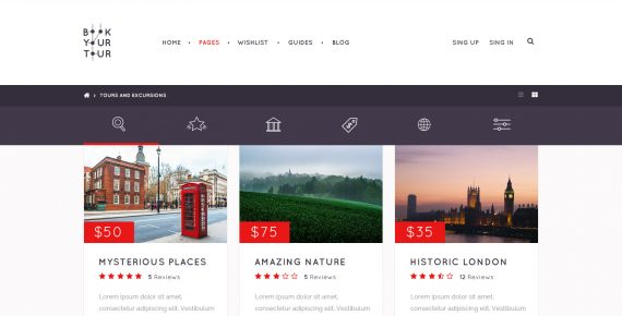 book your tour – excursion community psd template screenshot 3