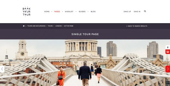 book your tour – excursion community psd template screenshot 4