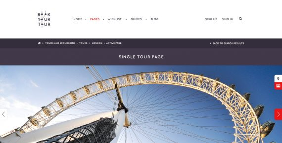 book your tour – excursion community psd template screenshot 5