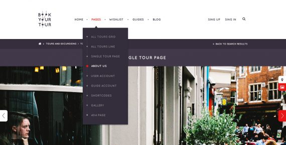 book your tour – excursion community psd template screenshot 6