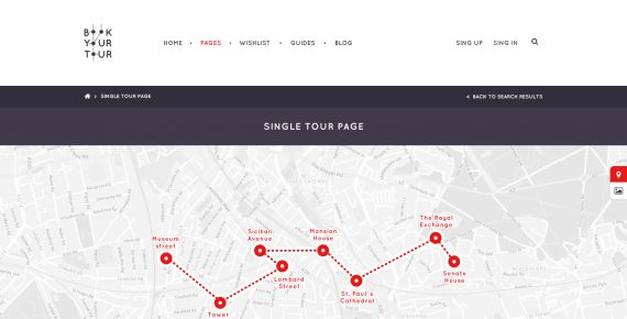 book your tour – excursion community psd template screenshot 7
