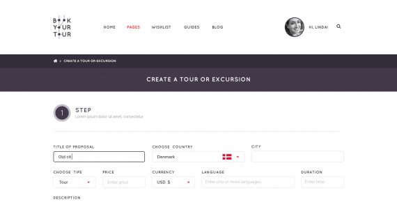 book your tour – excursion community psd template screenshot 25