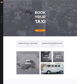 order a taxi – website design ui screenshot 1