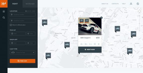 rentify – car rental & booking psd template screenshot 3