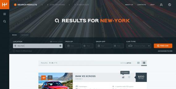 rentify – car rental & booking psd template screenshot 4