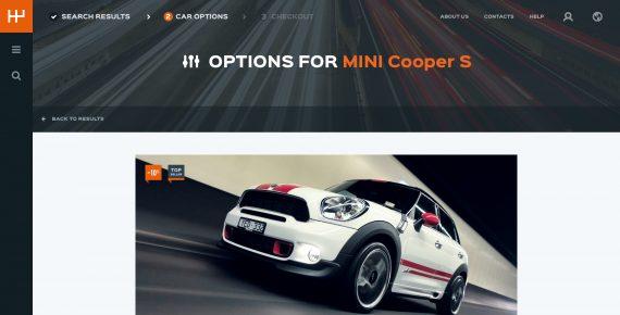 rentify – car rental & booking psd template screenshot 6