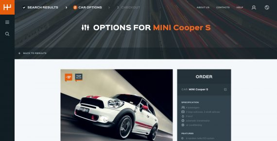 rentify – car rental & booking psd template screenshot 7