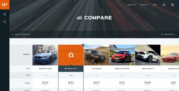 rentify – car rental & booking psd template screenshot 9