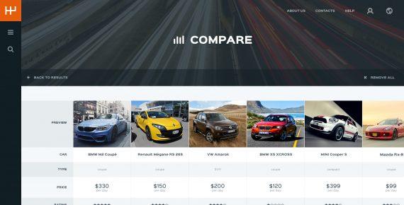 rentify – car rental & booking psd template screenshot 10