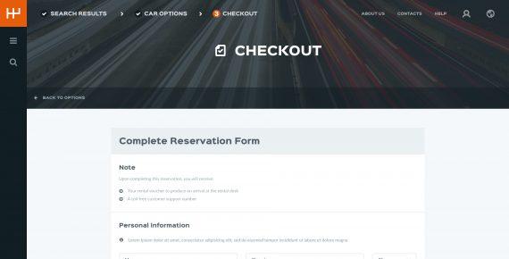 rentify – car rental & booking psd template screenshot 11