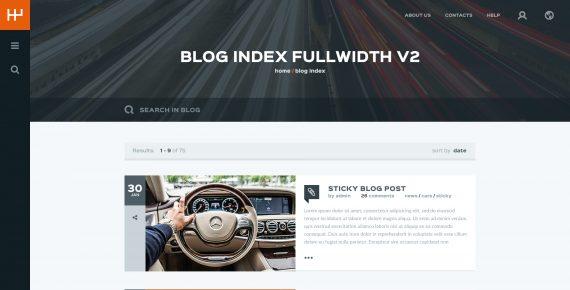 rentify – car rental & booking psd template screenshot 15