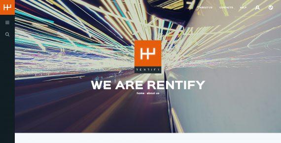 rentify – car rental & booking psd template screenshot 19