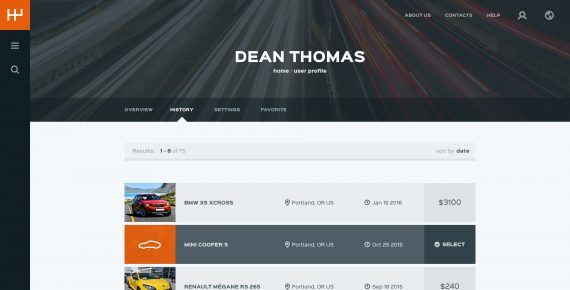 rentify – car rental & booking psd template screenshot 27