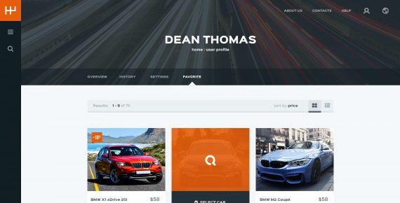 rentify – car rental & booking psd template screenshot 29