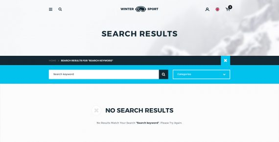 winter sport – ski & snowboard rental psd template screenshot 4