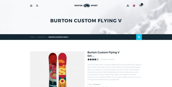 winter sport – ski & snowboard rental psd template screenshot 8
