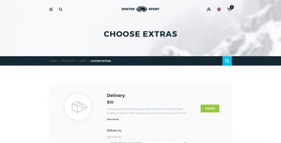 winter sport – ski & snowboard rental psd template screenshot 11