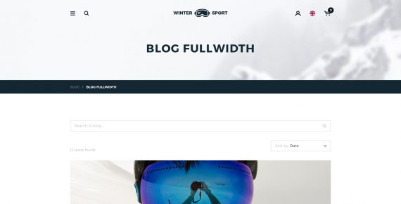 winter sport – ski & snowboard rental psd template screenshot 17