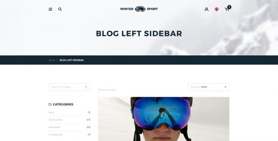 winter sport – ski & snowboard rental psd template screenshot 19