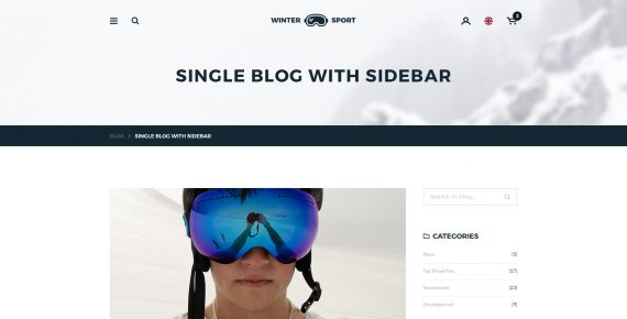 winter sport – ski & snowboard rental psd template screenshot 21