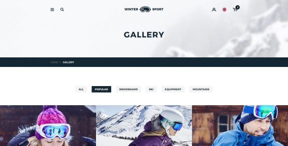 winter sport – ski & snowboard rental psd template screenshot 22