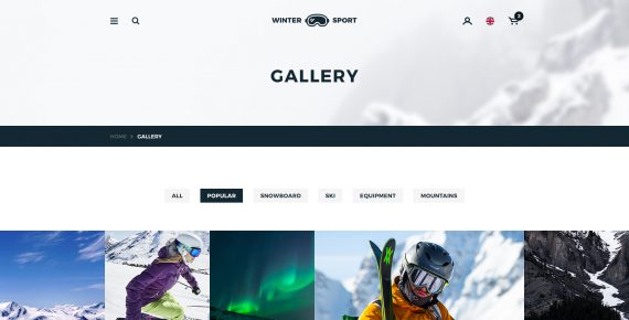 winter sport – ski & snowboard rental psd template screenshot 24