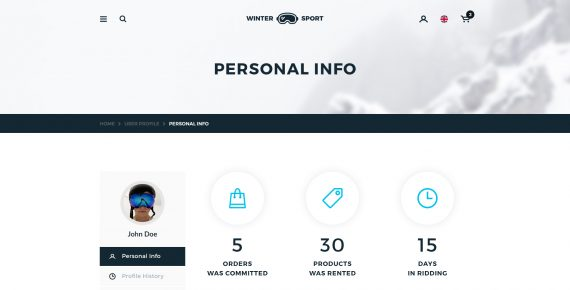 winter sport – ski & snowboard rental psd template screenshot 27