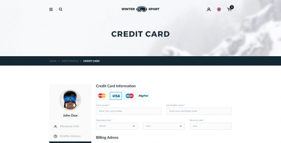 winter sport – ski & snowboard rental psd template screenshot 29