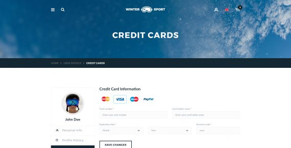winter sport – ski & snowboard rental psd template screenshot 30