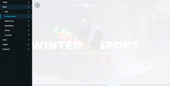 winter sport – ski & snowboard rental psd template screenshot 34