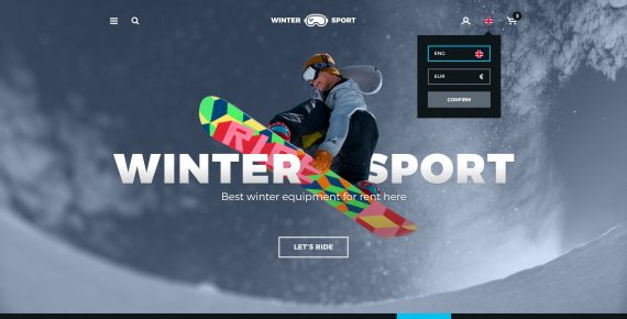winter sport – ski & snowboard rental psd template screenshot 38