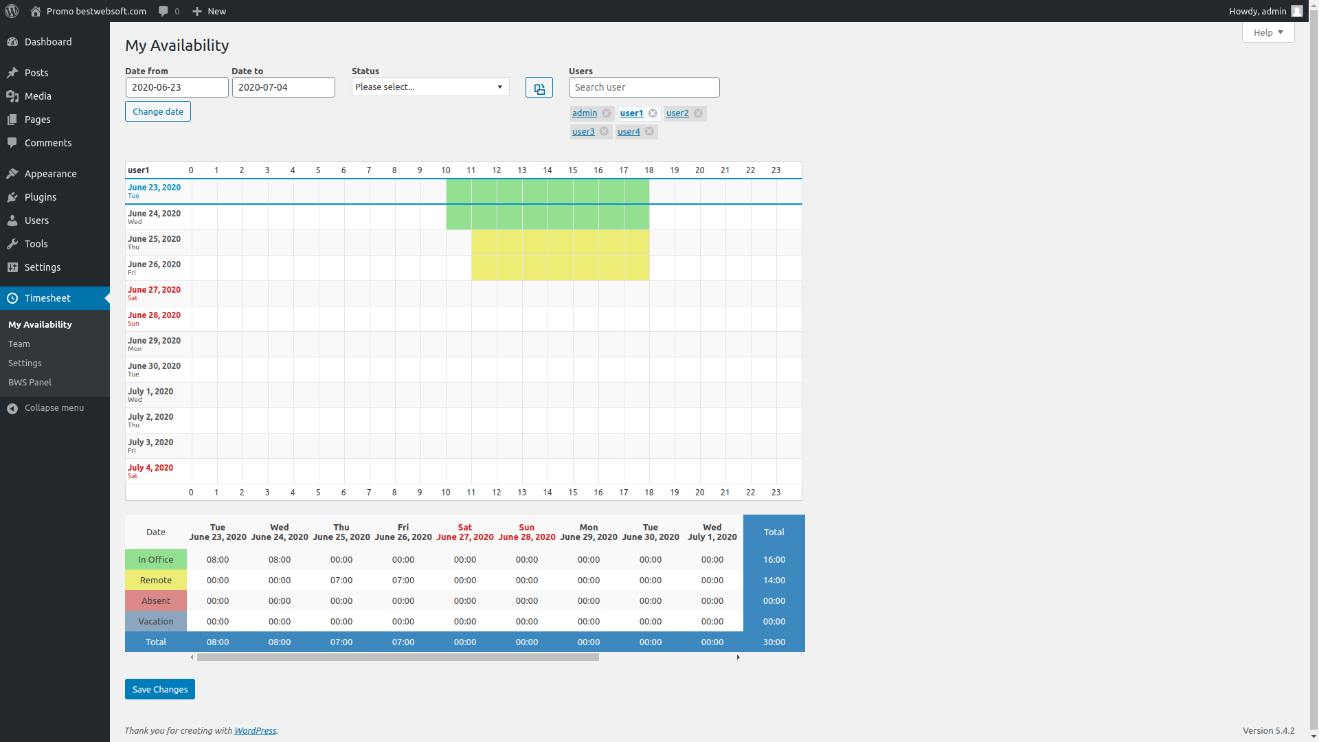 timesheet screenshot 3