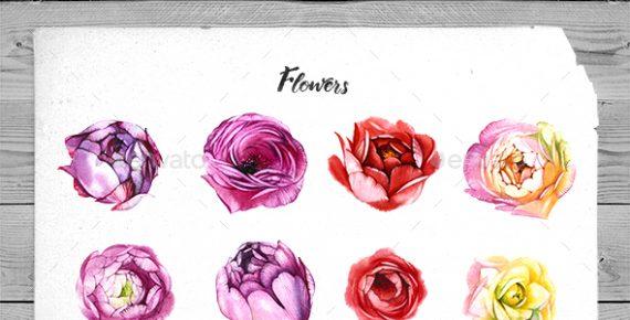 watercolor flowers – hand drawn watercolor floral kit screenshot 1