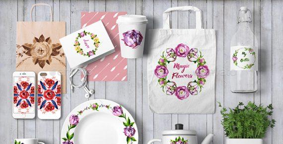 watercolor flowers – hand drawn watercolor floral kit screenshot 3