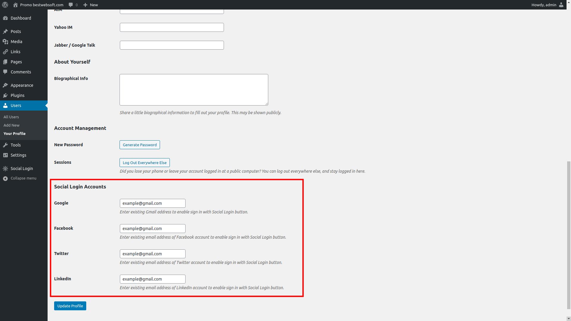 social login screenshot 3