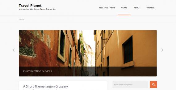 travel planet – wordpress theme screenshot 1