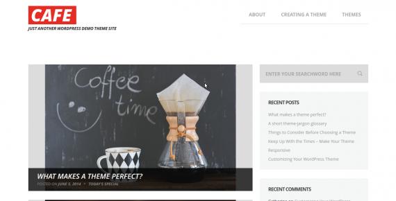 cafe – cheap wordpress theme screenshot 1