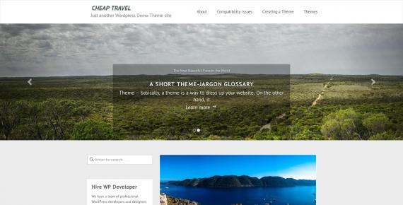 cheap travel – cheap wordpress theme screenshot 1