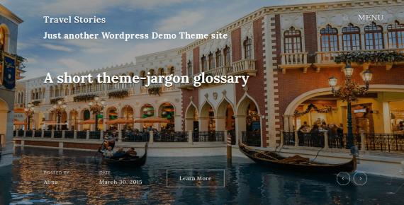 travel stories – wordpress theme screenshot 1
