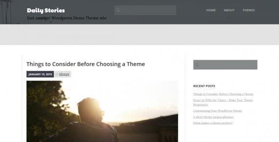 daily stories – wordpress theme screenshot 1