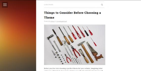 microblog – cheap wordpress theme screenshot 1
