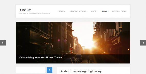 archy – cheap wordpress theme screenshot 1