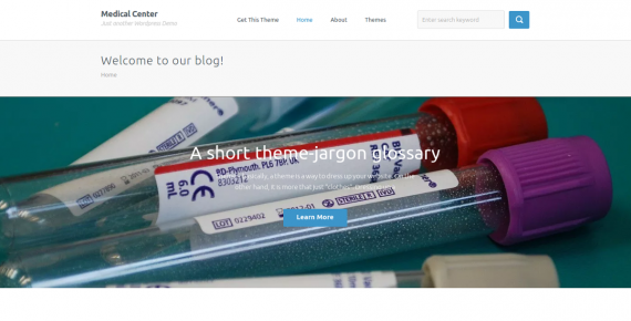 medical center – wordpress theme screenshot 1