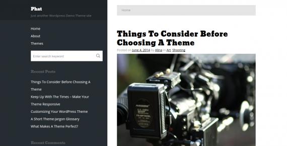 phat – cheap wordpress theme screenshot 1