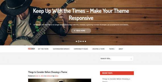 reddish – cheap wordpress theme screenshot 1