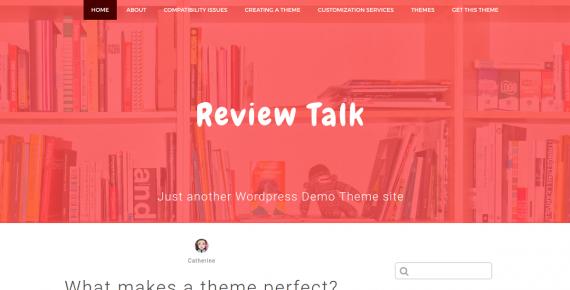 review talk – cheap wordpress theme screenshot 1