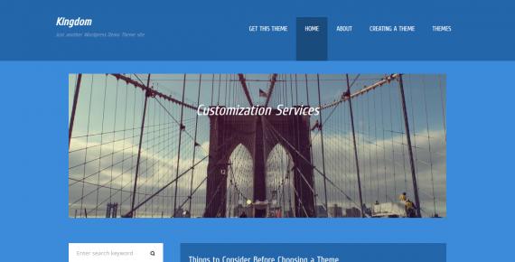 kingdom – cheap wordpress theme screenshot 1