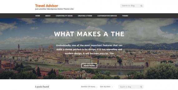 travel advisor – wordpress theme screenshot 1