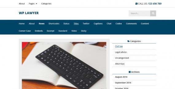 wp lawyer – cheap wordpress theme screenshot 1
