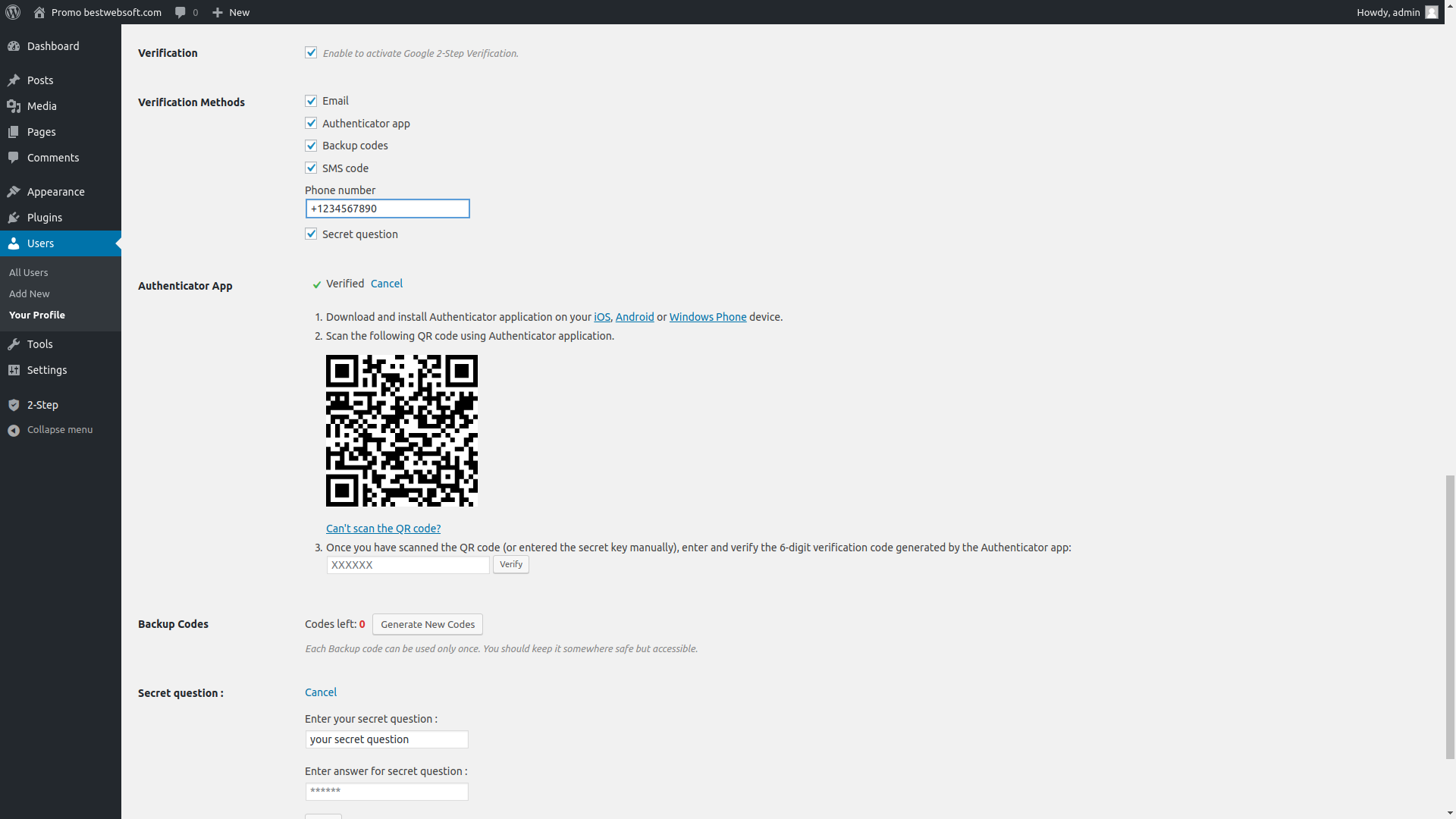 2-step verification screenshot 4
